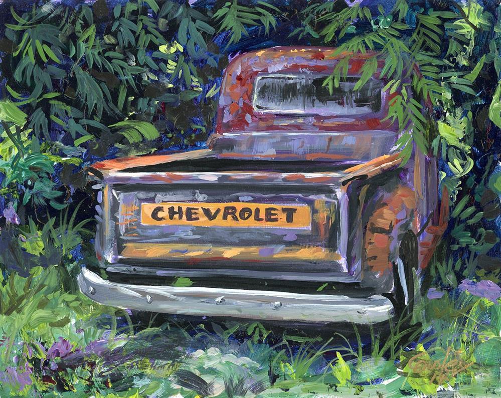 """Shady Retirement"" original fine art by Chris Ousley"