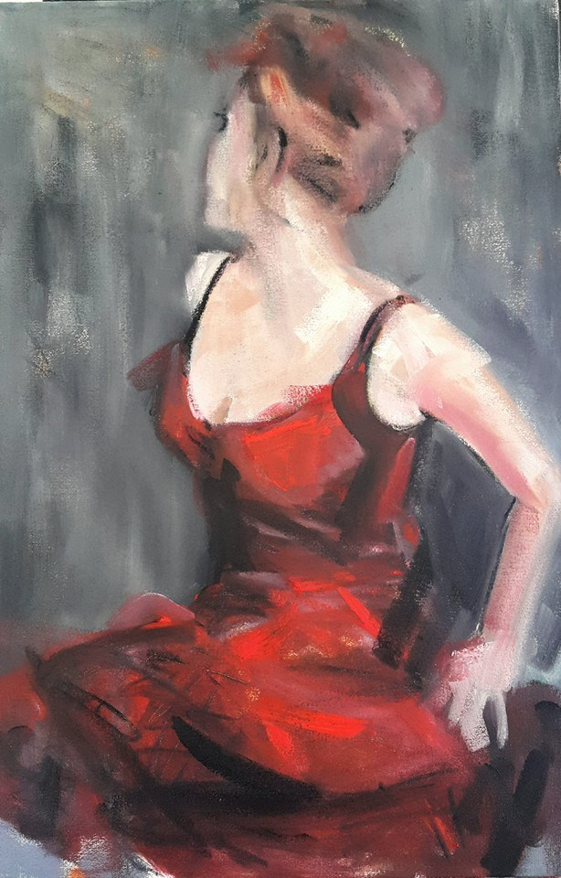"""Waiting for my valentine"" original fine art by Rentia Coetzee"