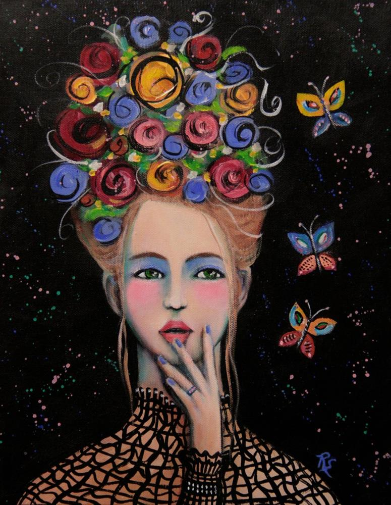 """Blossoms and Butterflies"" original fine art by Roberta Schmidt"