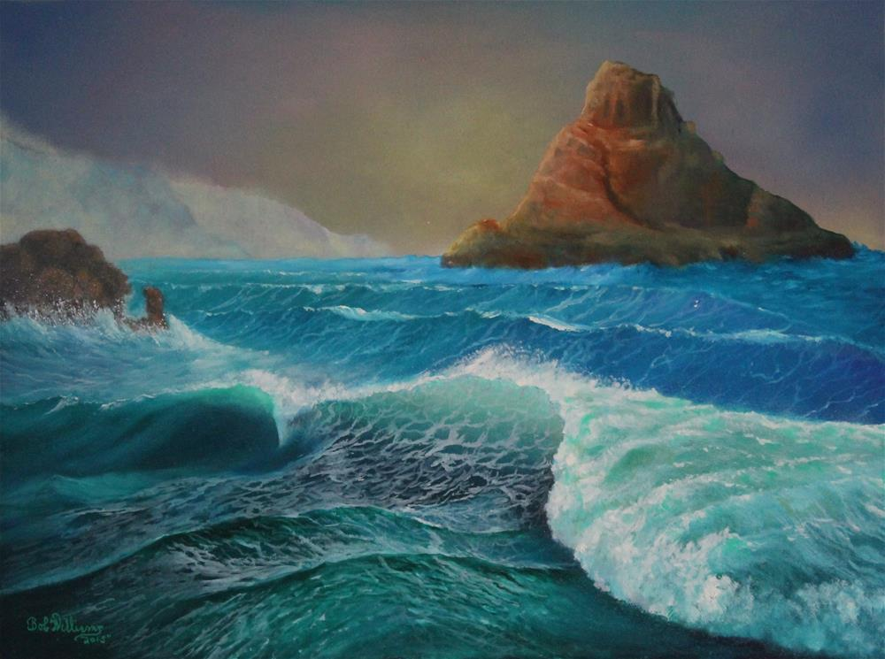 """The Warrior.....Coastal Ireland"" original fine art by Bob Williams"