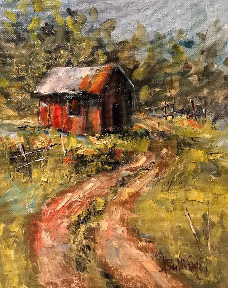 """A Secluded Place of Peace landscape painting by Alabama Artist Angela Sullivan"" original fine art by Angela Sullivan"