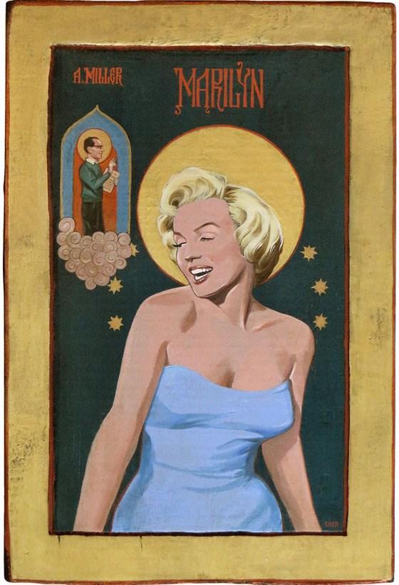"""""""Marilyn- Hollywood Icon"""" original fine art by Shawn Shea"""