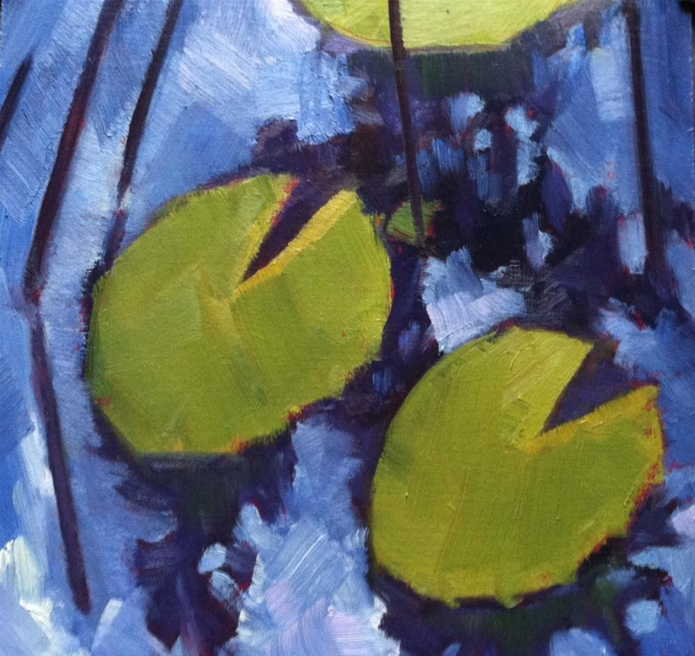 """Lily Pads"" original fine art by Katharine March"