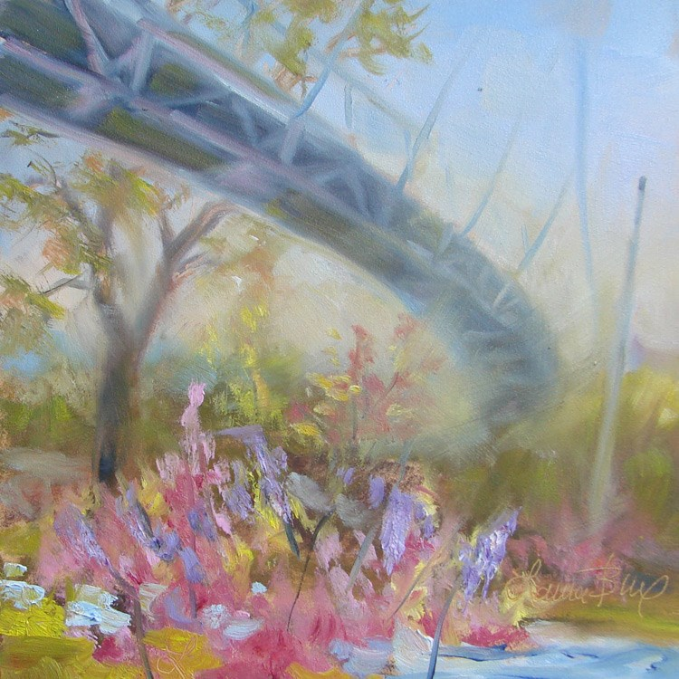 """Spring in Falls Park - 397"" original fine art by Laura  Buxo"