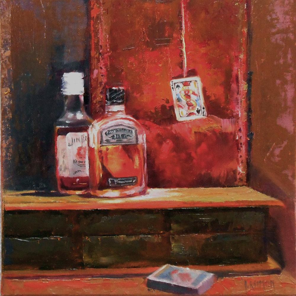 """High-Jack"" original fine art by A.K. Simon"
