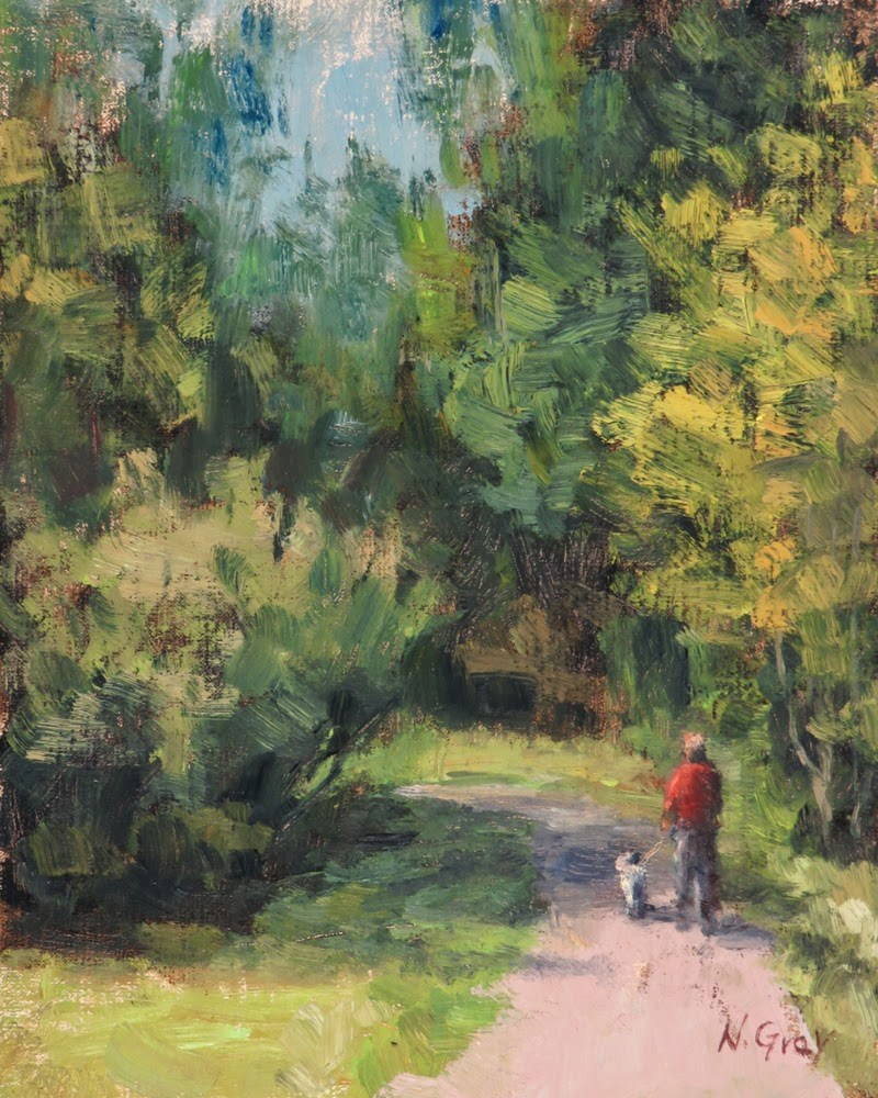 """Walking in the Park"" original fine art by Naomi Gray"