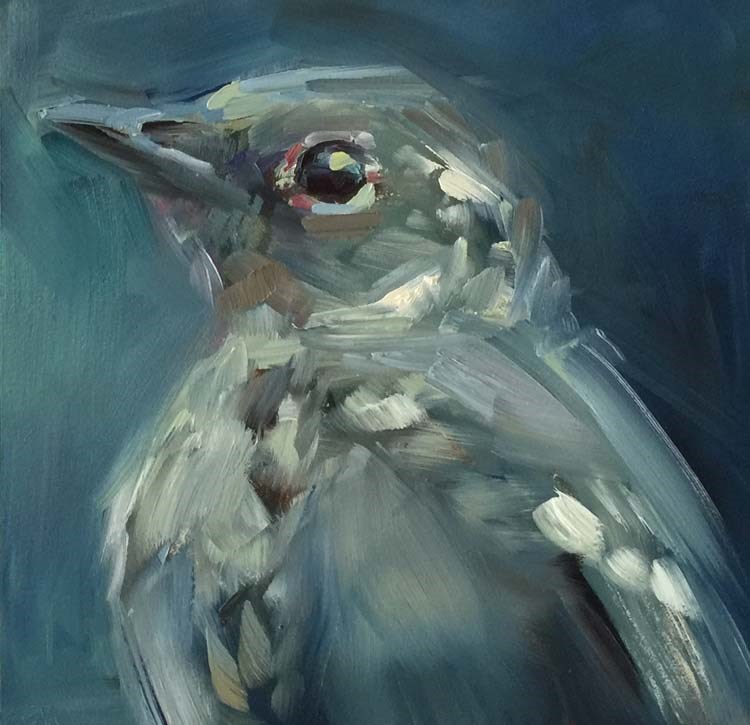 """A Solitary Townsend's Solitaire"" original fine art by Patti McNutt"