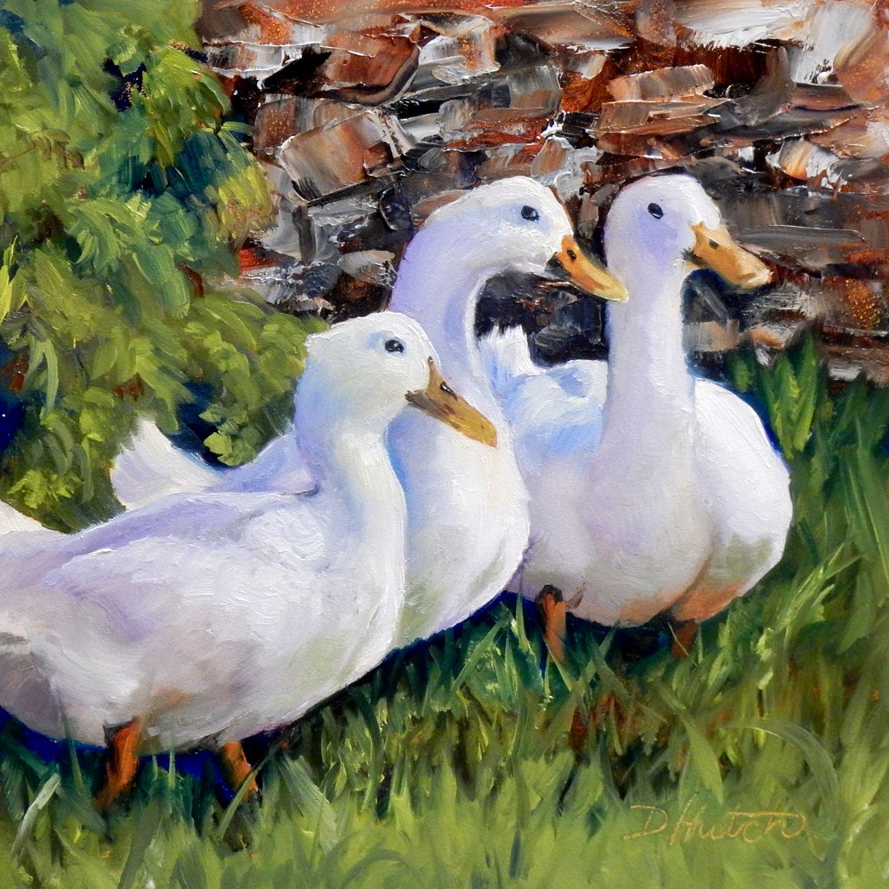 """Three Amigos"" original fine art by Diane Hutchinson"