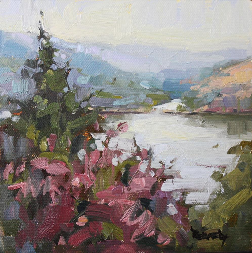 """Columbia River Meets The White Salmon River"" original fine art by Cathleen Rehfeld"