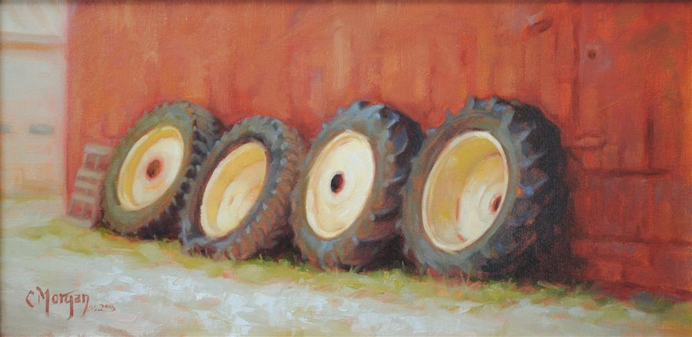 """Where's My Tractor?"" original fine art by Cecile W. Morgan"