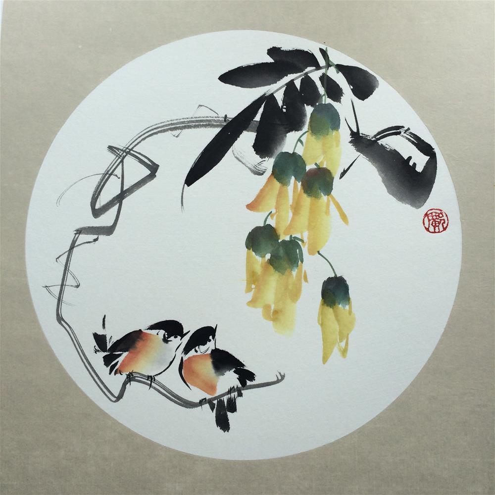 """""""Mucuna"""" original fine art by R kwong"""