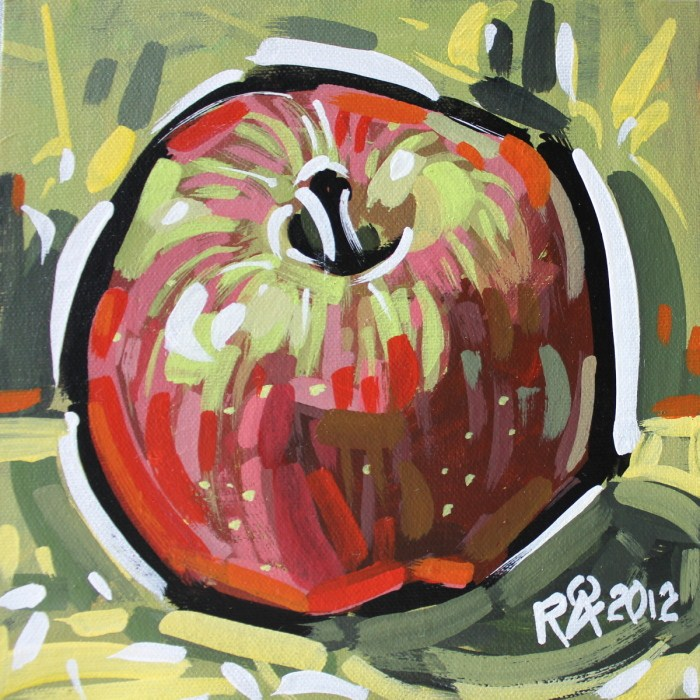 A honey crunch apple original fine art by Roger Akesson