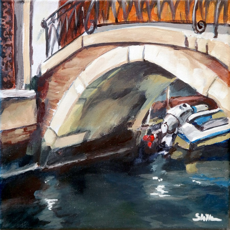 """1747 Under the Bridge"" original fine art by Dietmar Stiller"