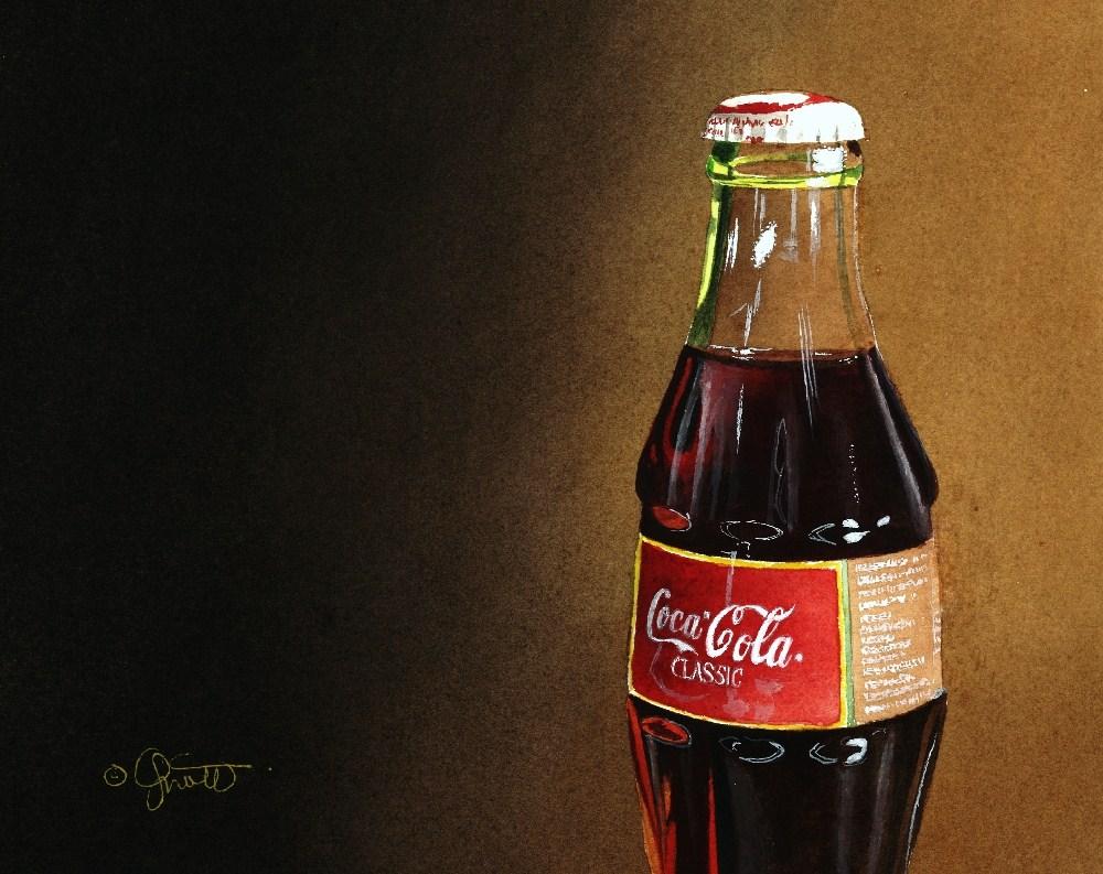 """Coke with Gradation"" original fine art by Jacqueline Gnott, TWSA, WHS"