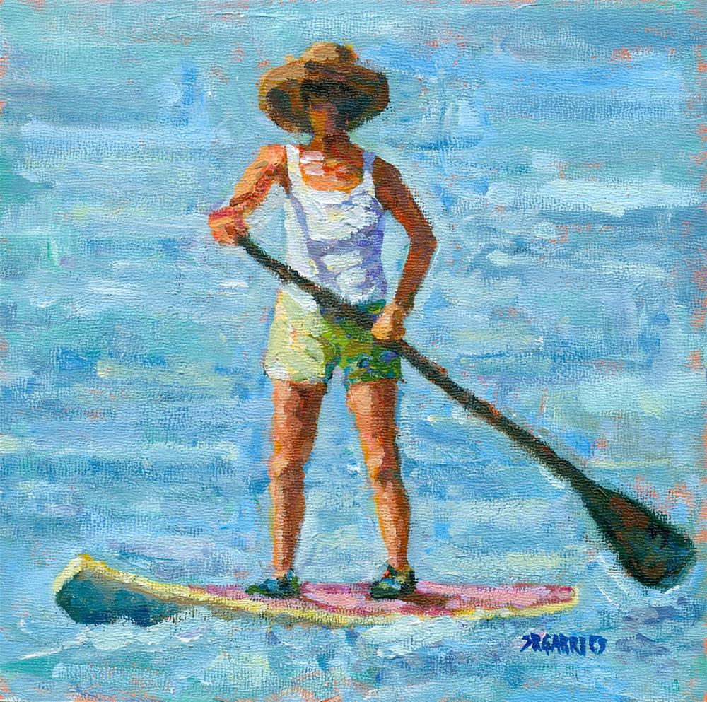 """the paddler"" original fine art by Shelley Garries"