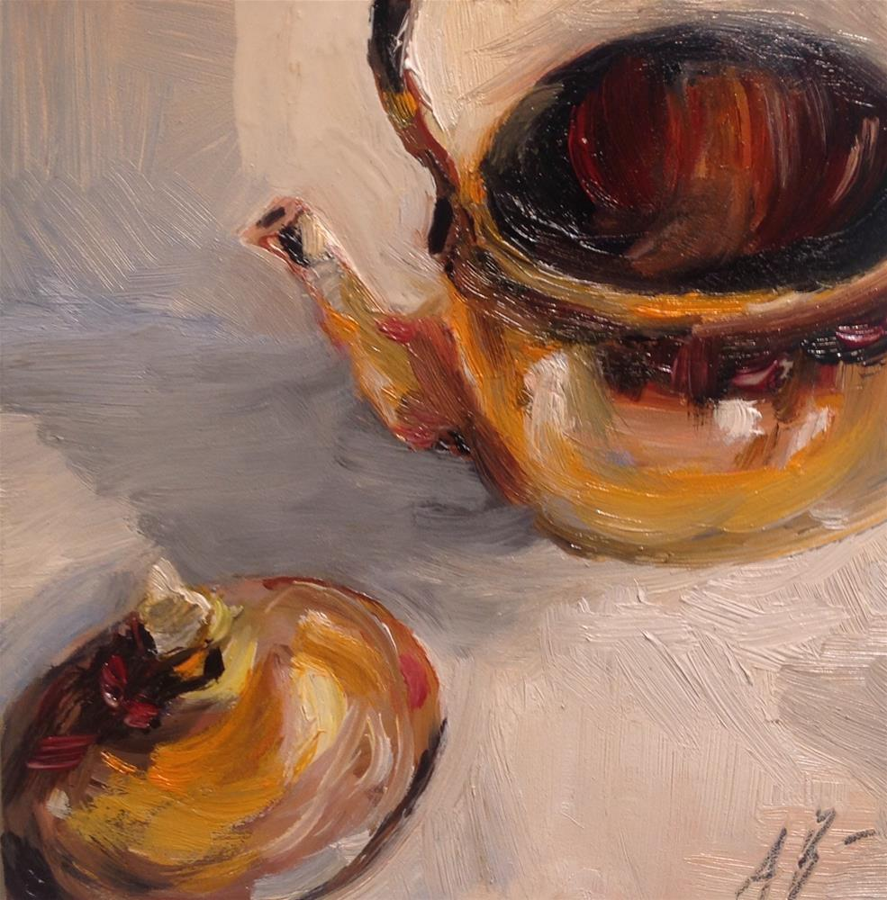 """Empty tea kettle"" original fine art by Annette Balesteri"