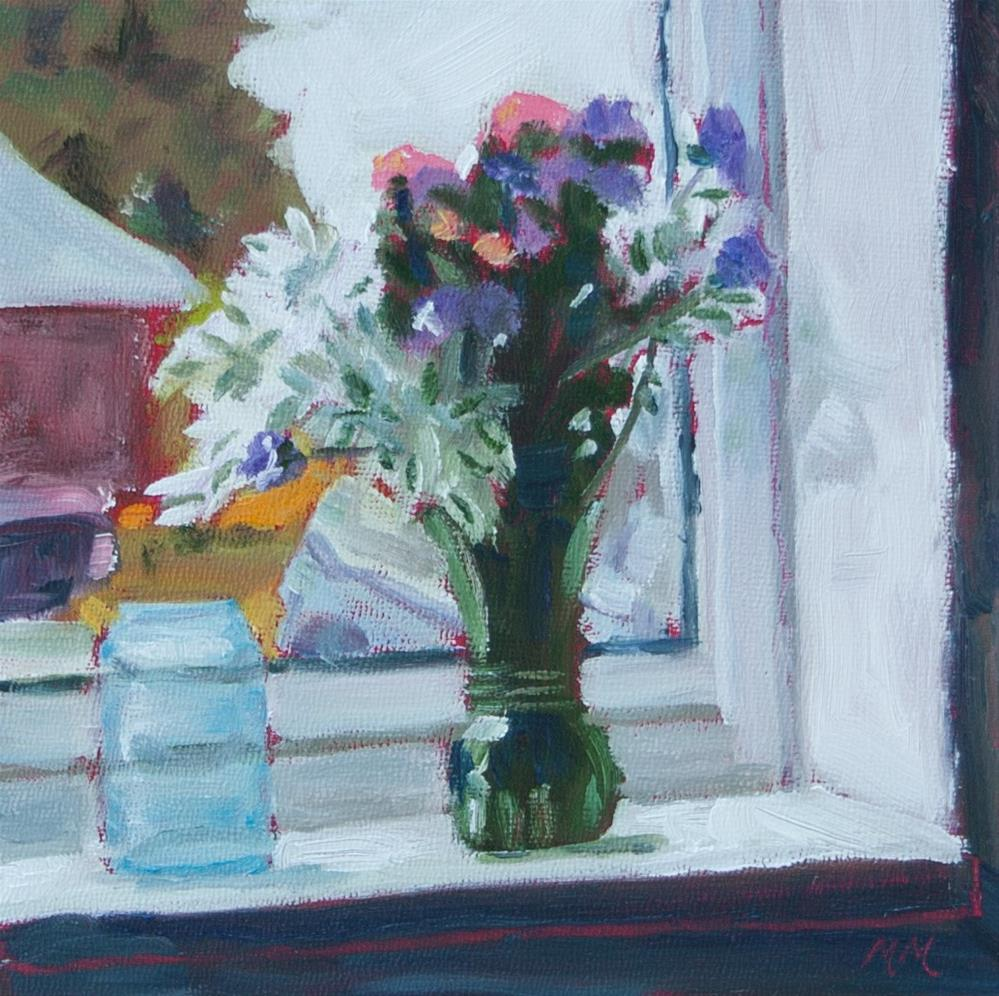 """Windowsill"" original fine art by Maria McNitt"