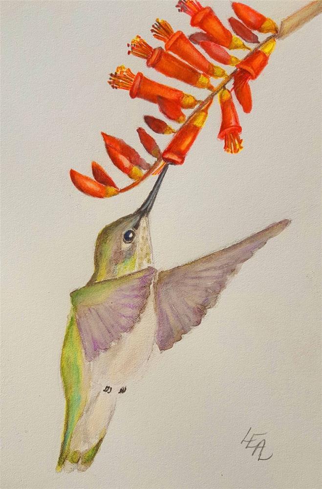 """Ocotillo Angel"" original fine art by Anna Lisa Leal"