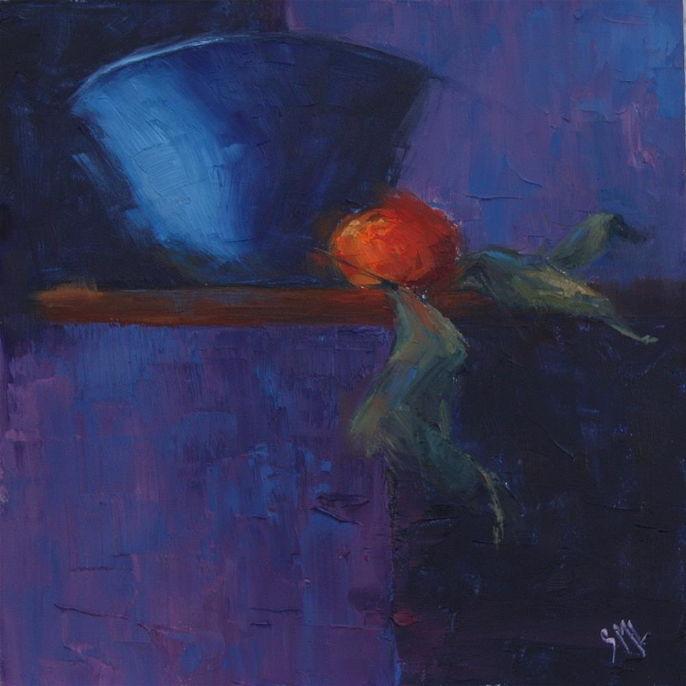"""Cyan Bowl"" original fine art by Sheila Marie"
