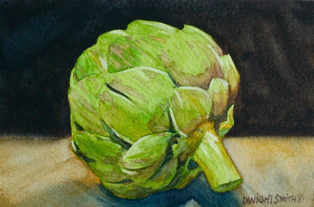 """"""" ARTICHOKE """" original fine art by Dwight Smith"""