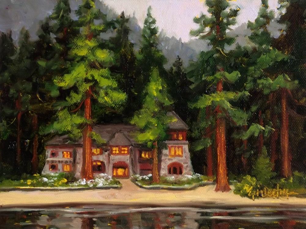 """Evening at Emerald Bay"" original fine art by Erin Dertner"