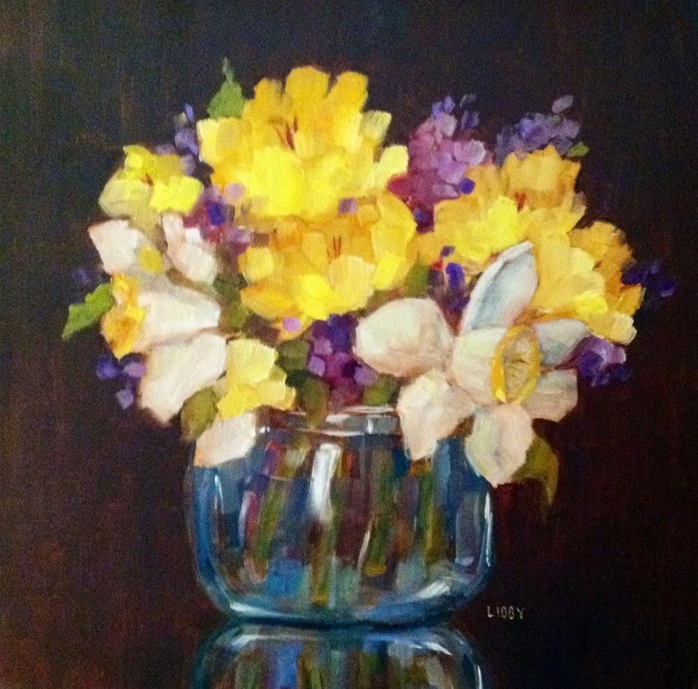 """Lucky Flowers"" original fine art by Libby Anderson"