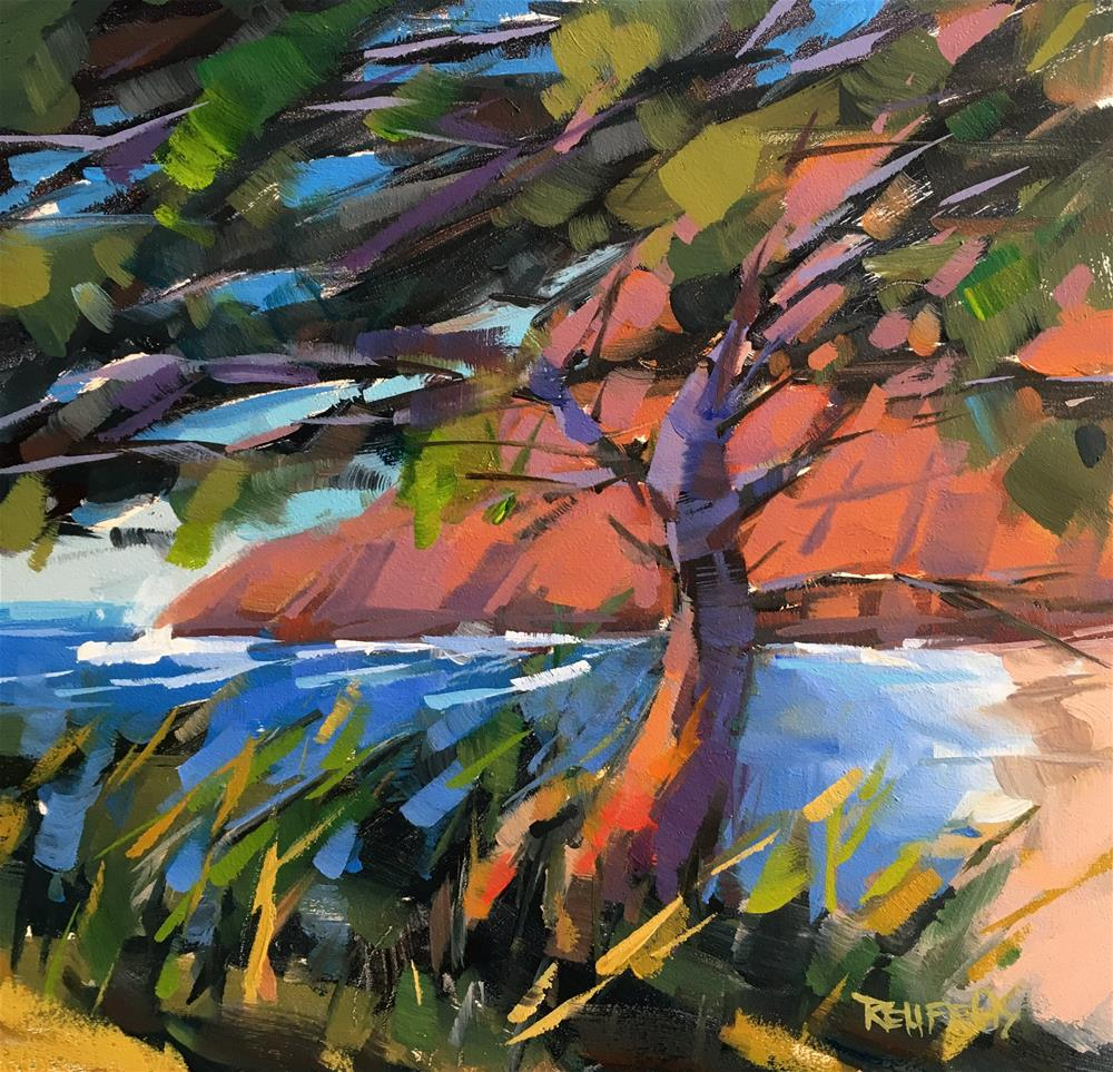 """Onshore Breeze"" original fine art by Cathleen Rehfeld"