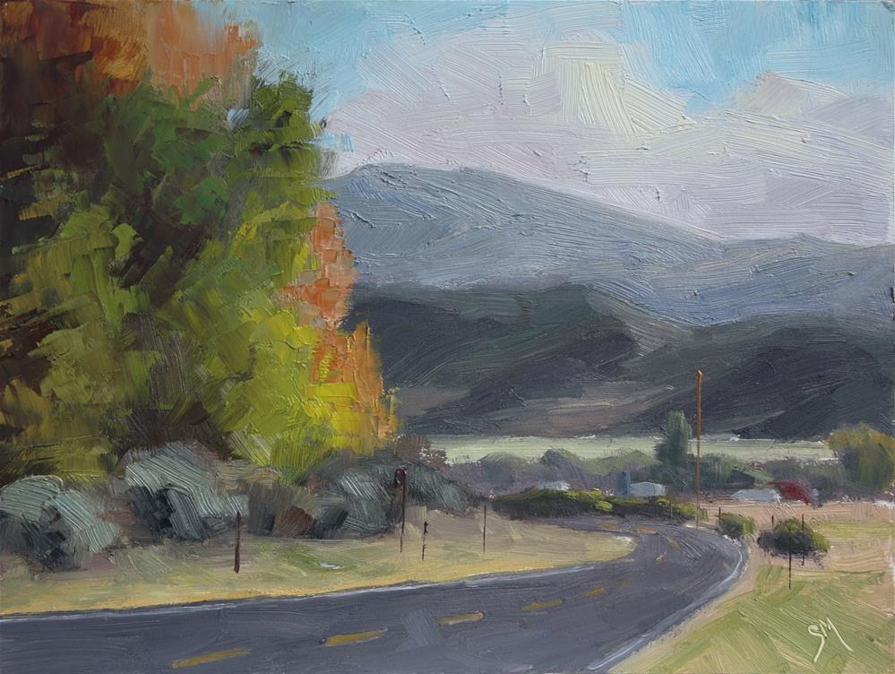"""The Bend at Bicknell"" original fine art by Sheila Marie"