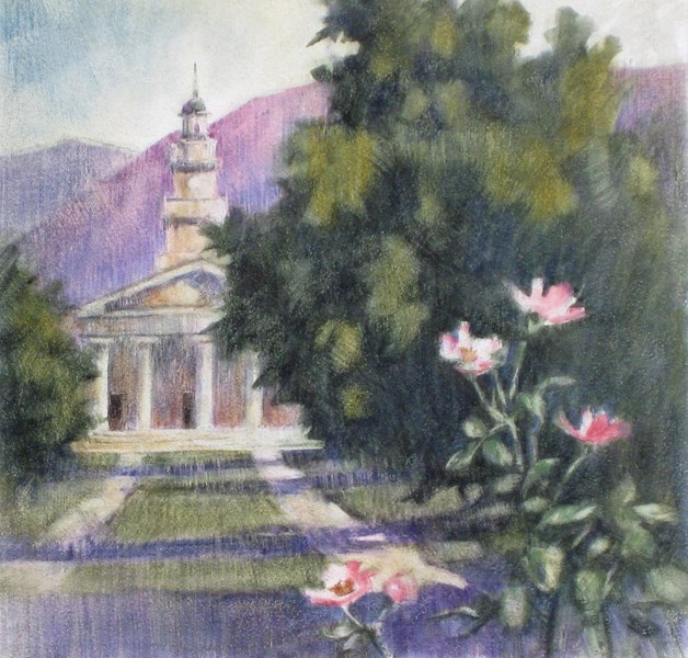 """The Memorial Chapel"" original fine art by Ginger Pena"