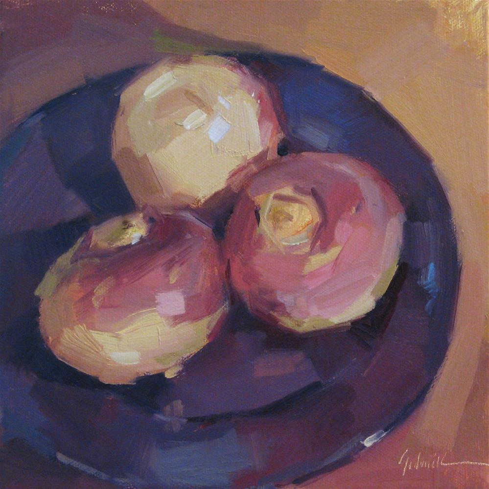 """Three Turnips A one dollar auction!"" original fine art by Sarah Sedwick"