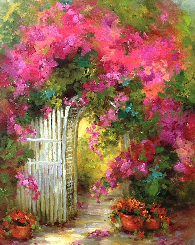 """Paint With Me Online ~ Painting Brilliant Colors Grand Opening"" original fine art by Nancy Medina"