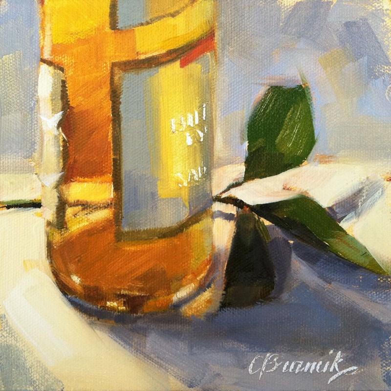 """Wine Bottle 2"" original fine art by Candace Brancik"