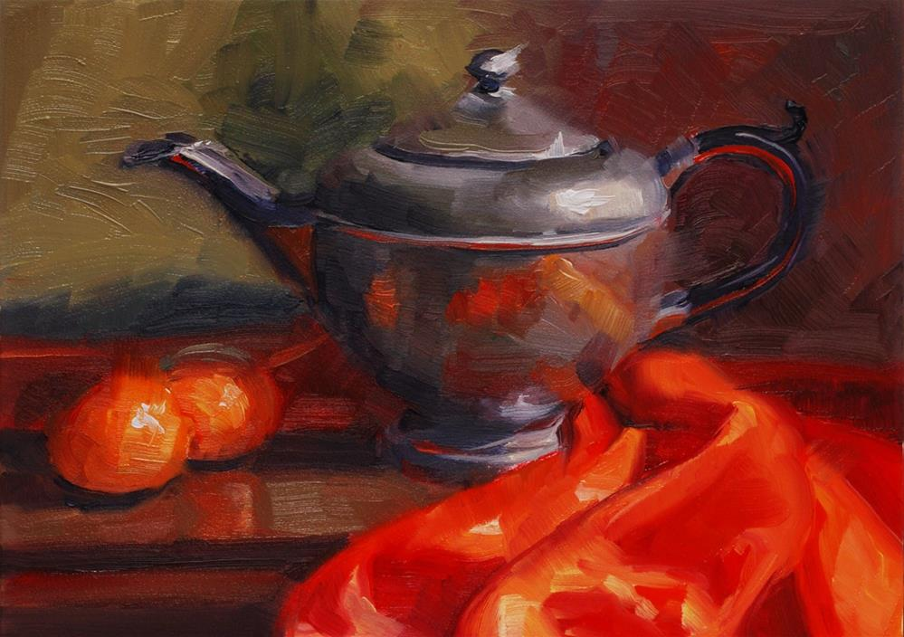 """Wrapped in Orange"" original fine art by Susan McManamen"