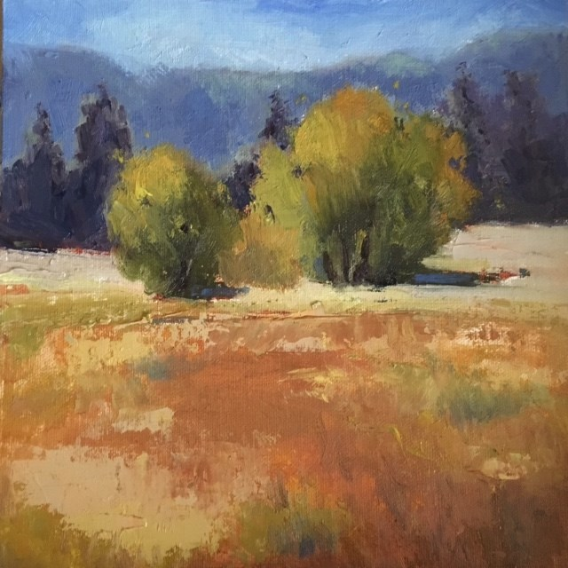 """""""Out Standing in the Field"""" original fine art by Victoria  Biedron"""