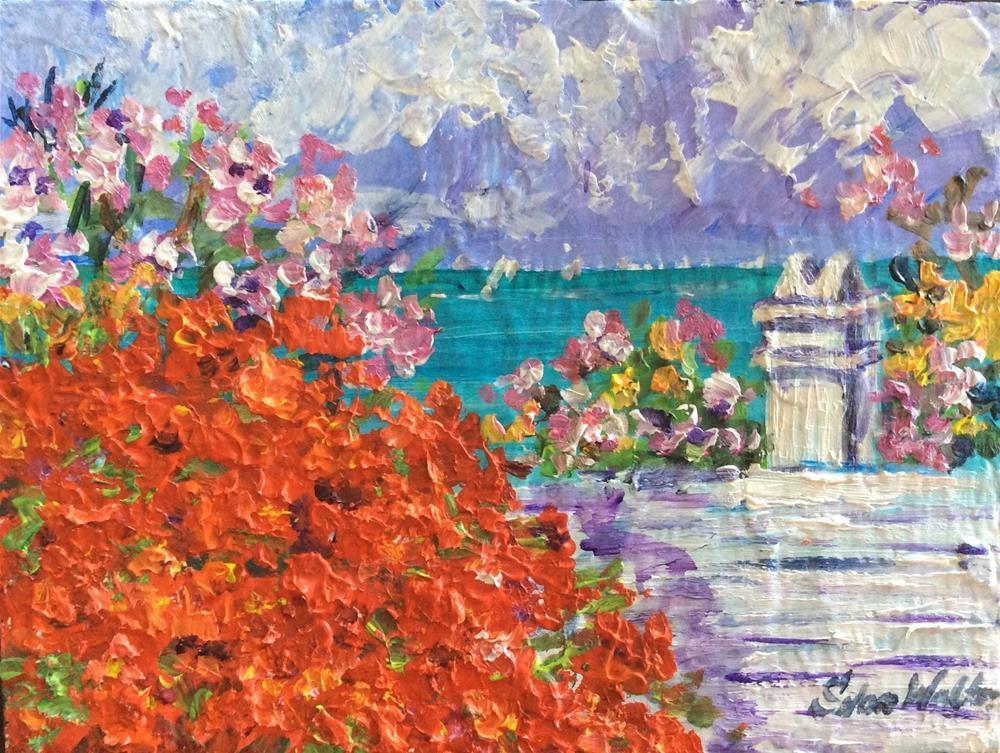"""Bermuda Blossoms"" original fine art by Sonia von Walter"