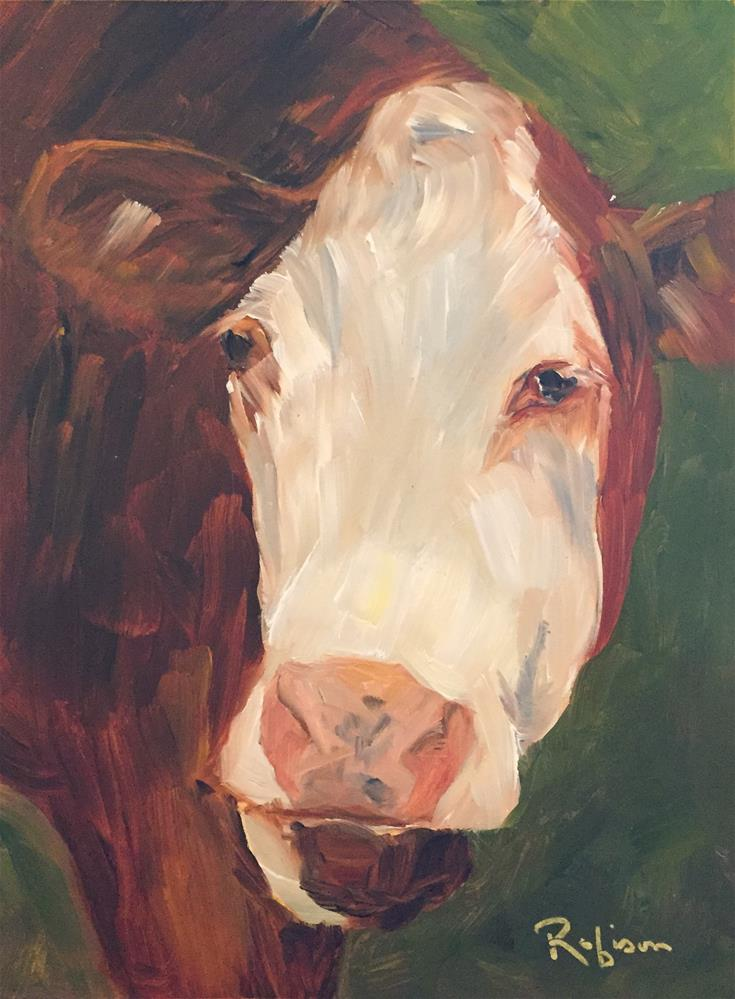 """Can You Say Moo?"" original fine art by Renee Robison"
