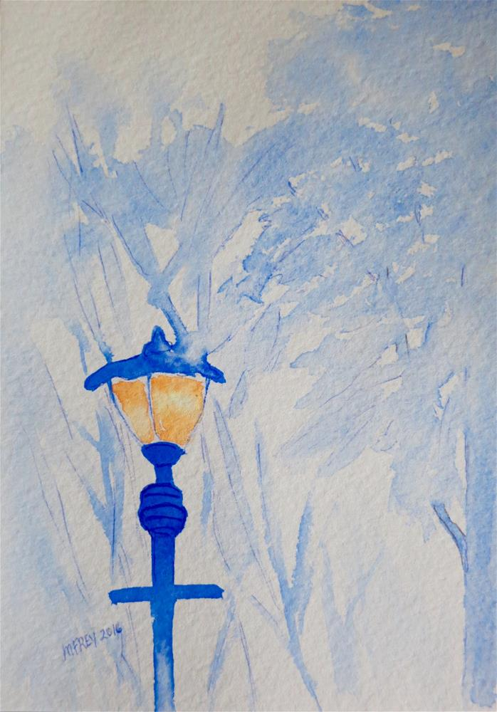 """Lamppost 099"" original fine art by Michelina Frey"