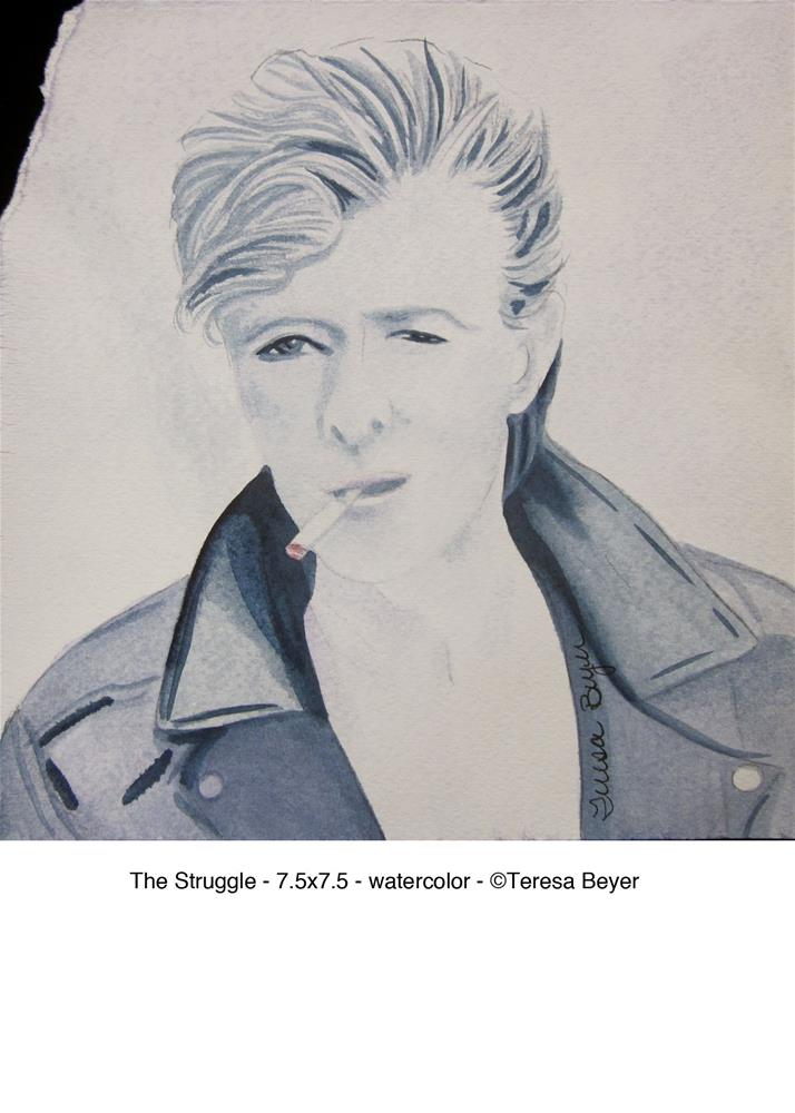 """The Struggle"" original fine art by Teresa Beyer"