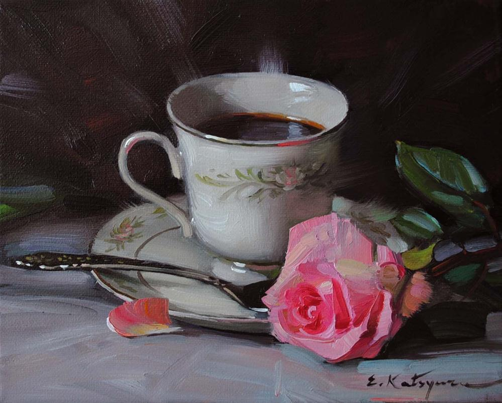 """Black Coffee"" original fine art by Elena Katsyura"
