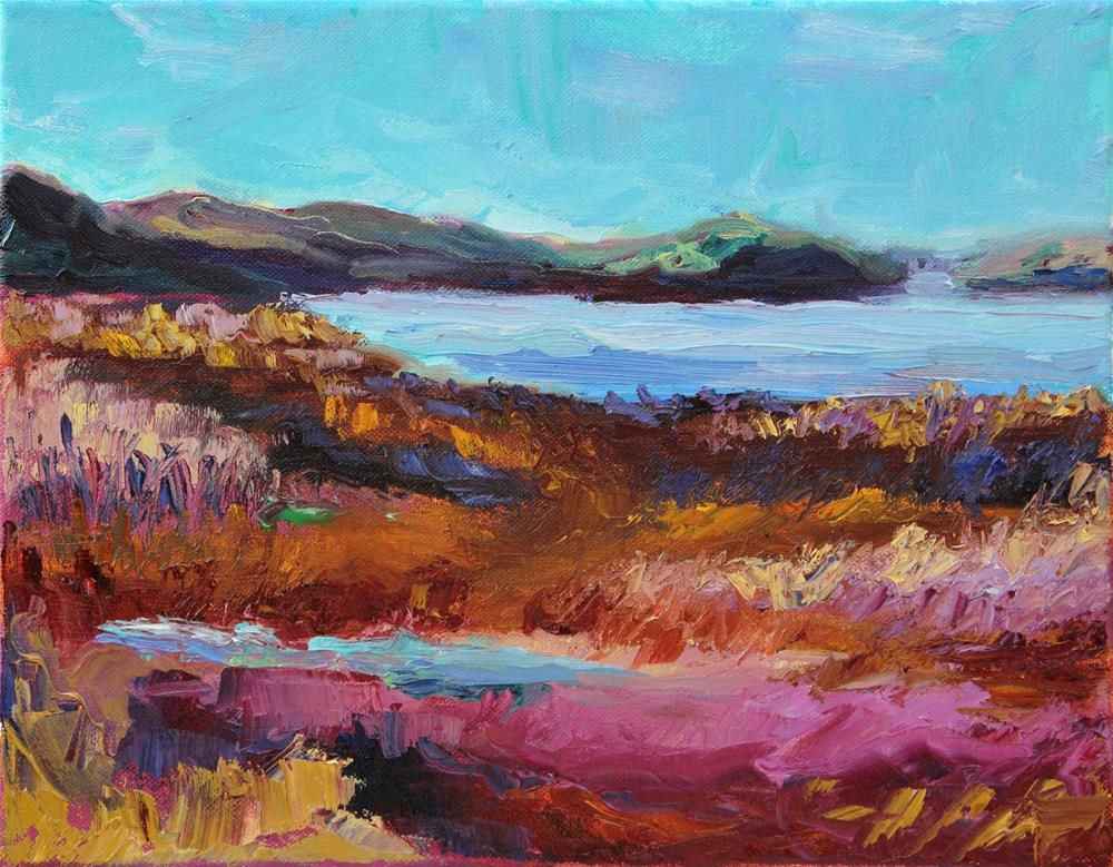 """Martinez Marsh"" original fine art by Loralee Chapleau"