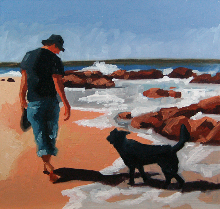 """No 388 Me and my Dog"" original fine art by Robin J Mitchell"