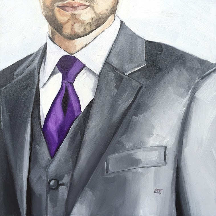 """The Exec"" original fine art by Elizabeth Dawn Johnston"