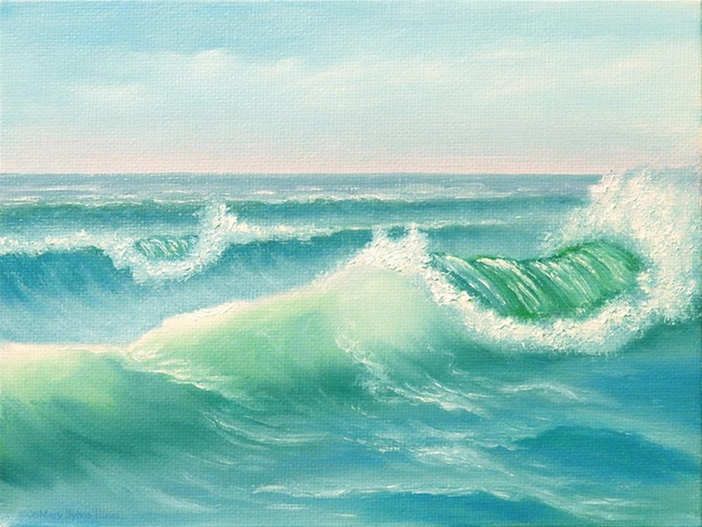 """Seascape 13"" original fine art by Mary Sylvia Hines"