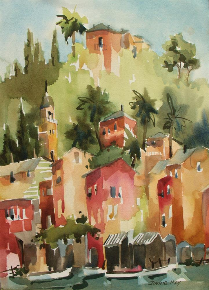 """Portofino morning"" original fine art by Jinnie May"