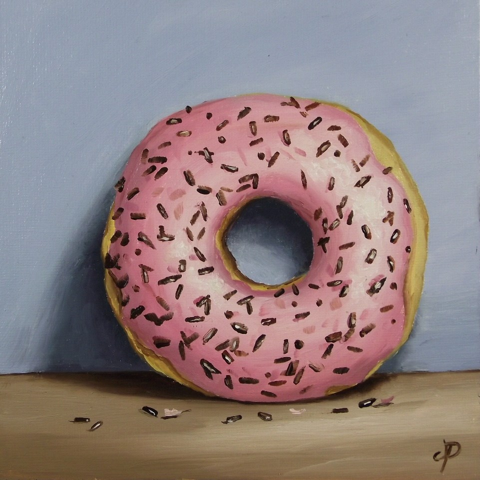 """Sprinkle Donut"" original fine art by Jane Palmer"