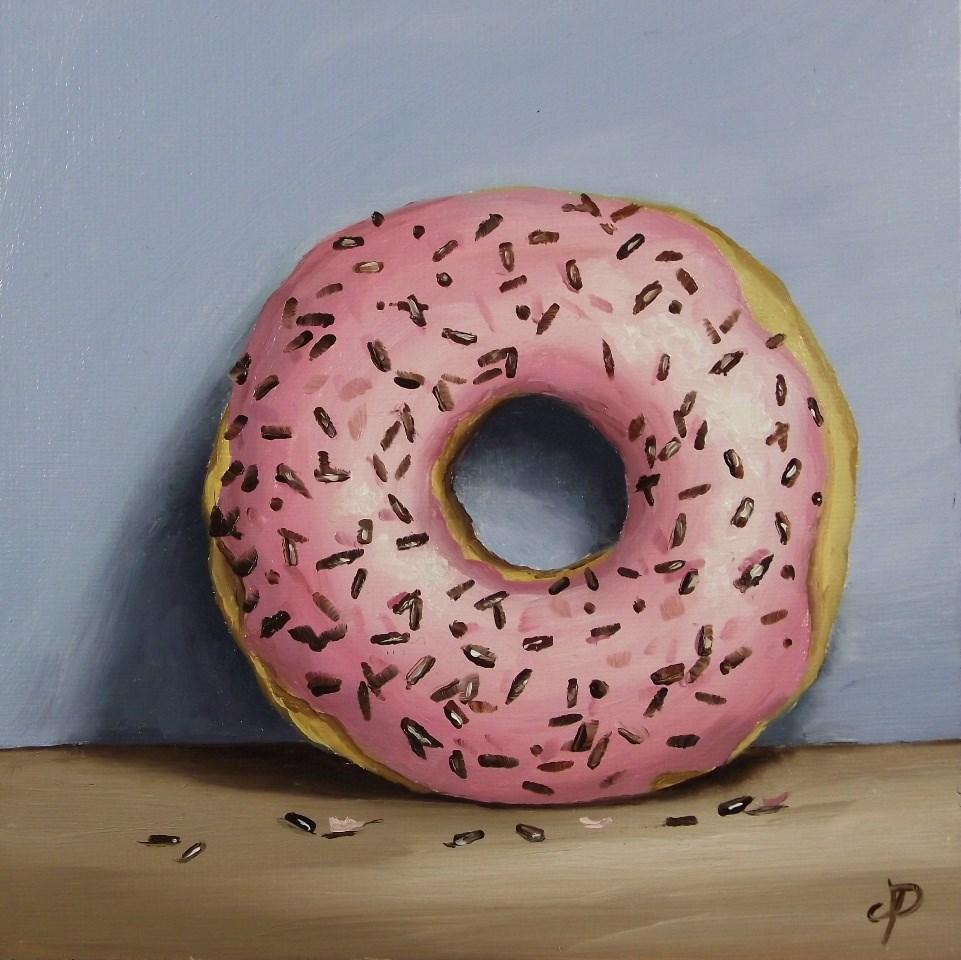 """""""Sprinkle Donut"""" original fine art by Jane Palmer"""