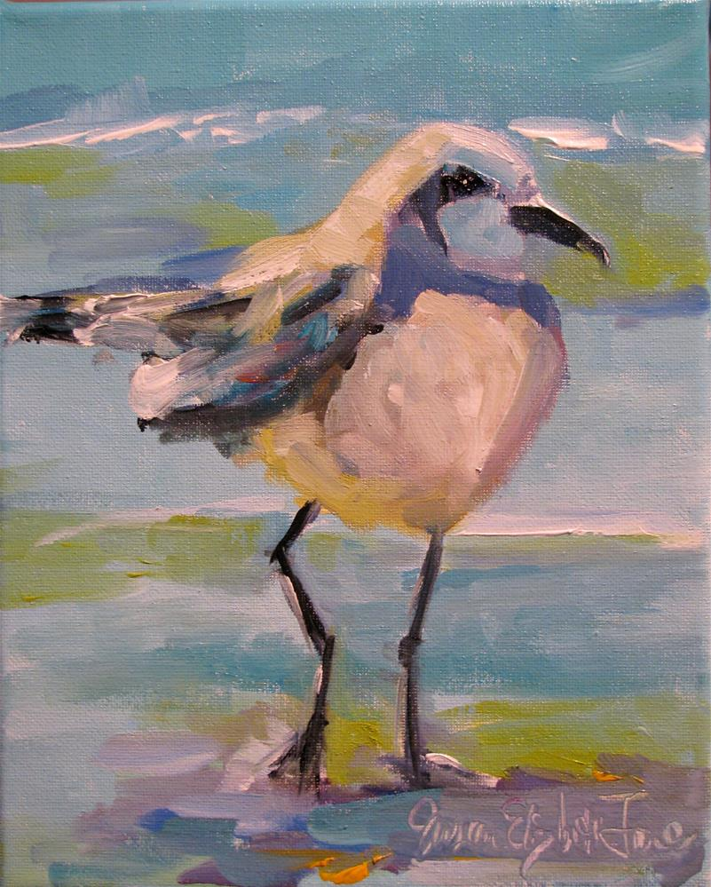 """Snowy Plover"" original fine art by Susan Elizabeth Jones"