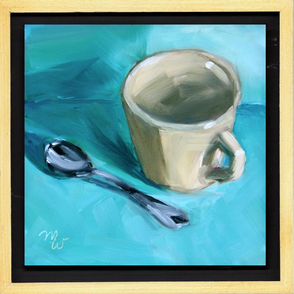 """""""Coffee or Tea  (Framed and Wired)"""" original fine art by Merrill Weber"""
