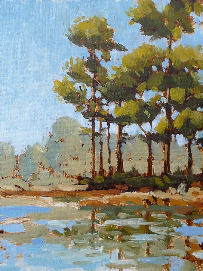 """30a Pines V"" original fine art by Adam Houston"