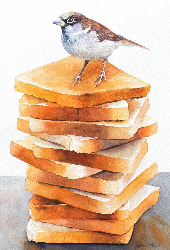 """ EAT LIKE A BIRD "" original fine art by Dwight Smith"